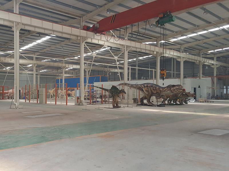 大洋艺术仿真恐龙工厂实景